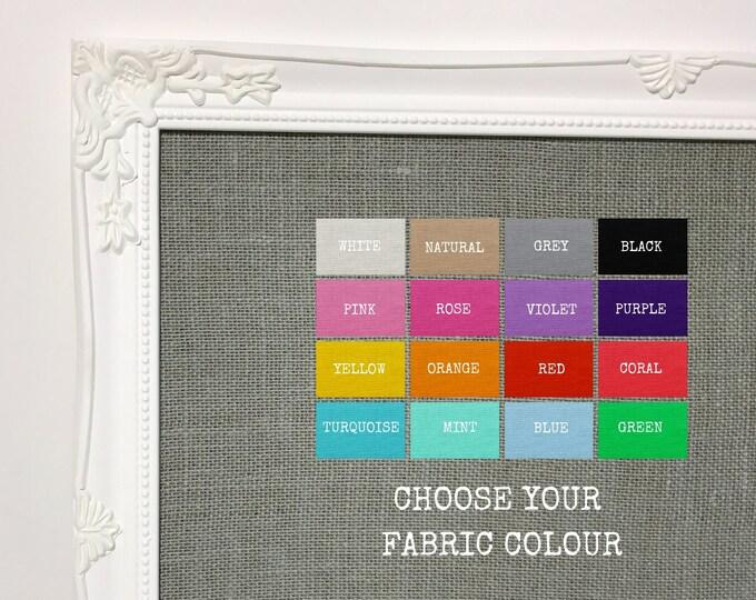 Fabric Pin Board | Hessian Fabric Pin Board | Noticeboard | Bulletin Board | Made To Order Pinboard Choose Your Colour Fabric | Room Decor