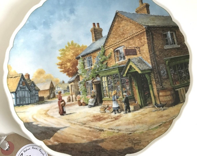 Village Life by Anthony Forster - Penny Wise Royal Doulton Bone China Collectors Decorative Wall Plate Village Shop Country Scene