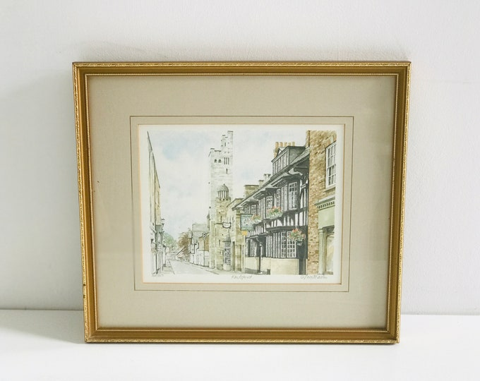 Knutsford Cheshire Philip Martin Signed Limited Edition Framed Lithograph Watercolour Print Number 348/850