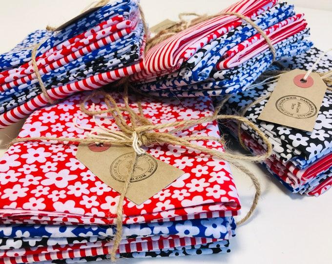 Fat Quarter Bundles | Fabric Scrap Sale | Fabric Quarter Bundle | Fat Quarters | Gifts For A Quilter | Fabric Bundles | Fabric Remnants