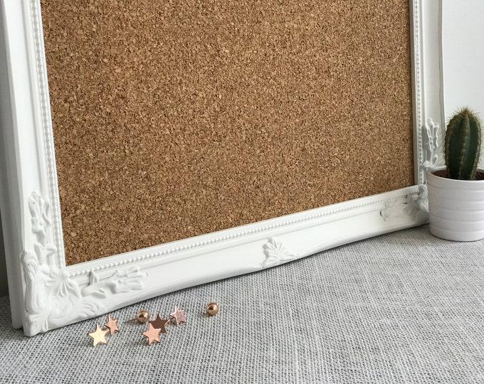 Cork Board | Corkboard | Framed Cork Board |  Bulletin Board | Message Board | White Cork Board | Housewarming Gift | Framed Corkboard
