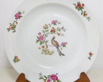 "Antique French Limoges 10"" Decorative Oriental Style Porcelain Plate circa 1920s 