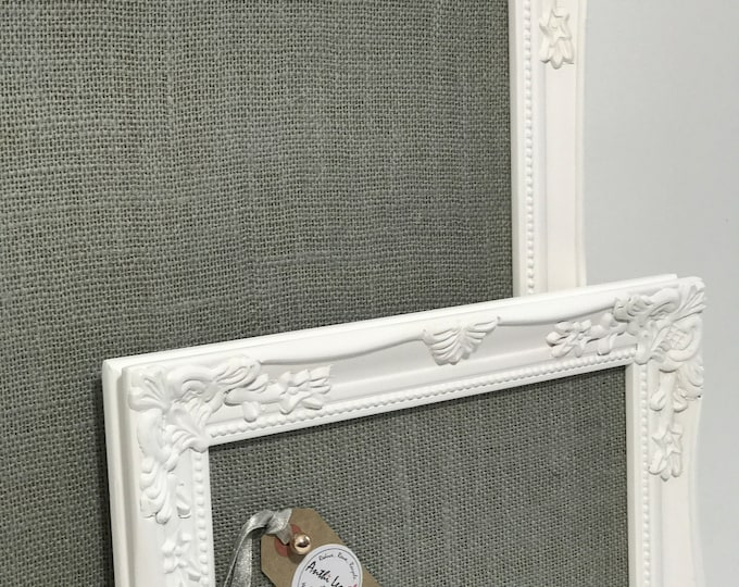 Bulletin Board Set of Hessian Fabric Pin Boards | Set of Noticeboards in Custom Made To Order in Choice of 16 Fabric Colours