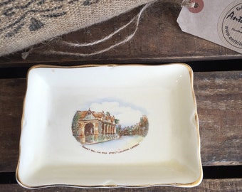 Crown Derby Butter Dish | Butter Tray | Fielding Crown Devon | 1900 | Chippin Camden | Chippin Camden Souvenir and Collectable
