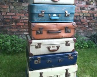 Vintage Suitcases | Vintage Luggage | Vintage Home Decor | Vintage Storage Solution | Vintage Cases | Photo Props
