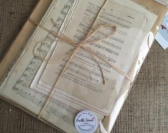 Music Paper Junk Journal Ephemera Old Hymn Sheet Music Old Music Paper Music Sheet Paper Vintage Junk Journal Ideas Junk Journaling