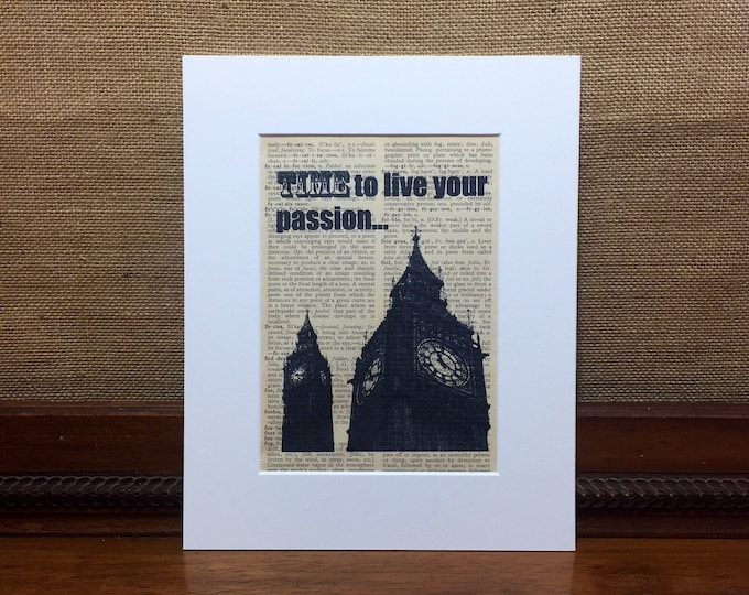 Time To Make Things Happen | Big Ben Print | Vintage Style Print | Inspirational Print | Live Your Dreams | Living Your Passion | Lady Boss