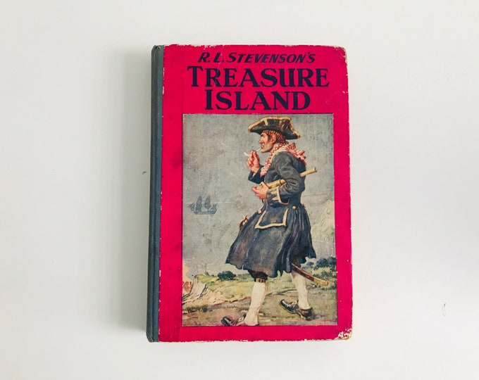 Treasure Island by Robert Louis Stevenson 1954 First Edition Sunshine Press | Children's Fictional Story Book | Classic Children's Books