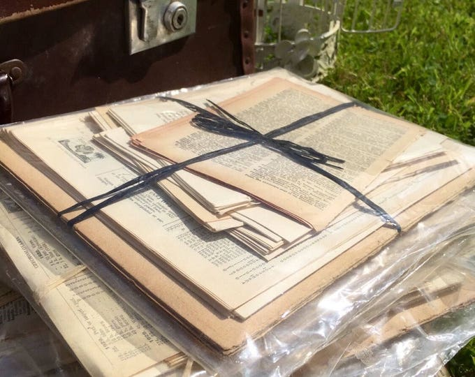 Vintage Scrapbooking Paper | Vintage Book Pages | Old Dictionary Pages | Old Book Pages | Vintage Paper Pack | Paper Crafters Gift Idea