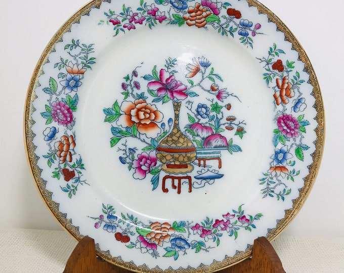 "Royal Doulton's Bottle Japan 10"" Decorative Oriental Style China Plate circa 1920s 