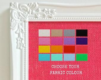 Girls Room Decor Memo Board Girl Room Pretty Push Pin Board Girl Boss Message Board Choose From 12 Burlap Fabric Colours