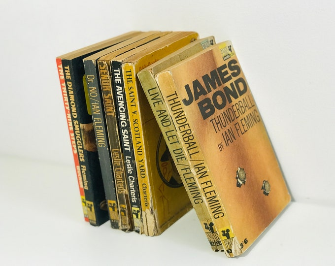 Spy Books Published by Pan | James Bond and The Saint Paperback Book Collection