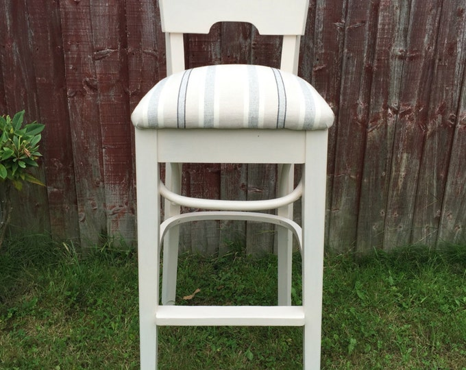 5 x Cream Kitchen Breakfast Bar Chairs Kitchen Chairs Bar Stools Painted Kitchen Furniture Country Farmhouse Kitchen High Back Chair Set