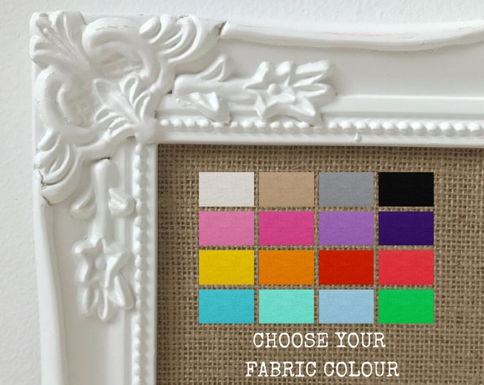 Vision Board Framed Vision Board Decorative Vision Board Law of Attraction Vision Boards Choose From 12 Burlap Fabric Colour |