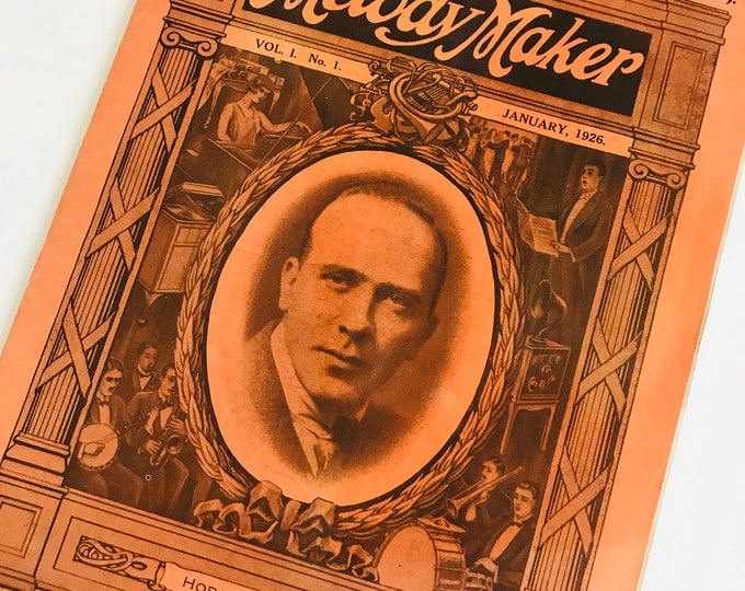 Melody Maker Vol 1 No 1 Published 1926 | Collectable Music Magazine Issue 1