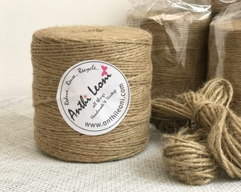 Twine | Twine Roll | 250m Twine | Roll of Twine | Thick String | 3mm Twine | 3ply Twine | Rustic Twine | Twine Spool | Craft Twine