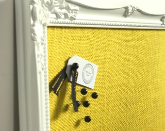 Yellow Burlap Fabric Pin Board For Home Decor Yellow Home Accessories Sunshine Nursery Decor Pinboard Kitchen Decor Yellow Noticeboard