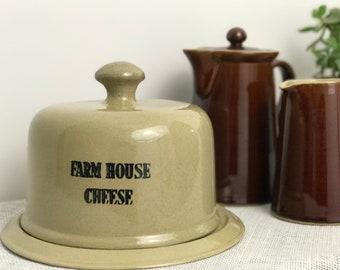 Cheese Dome | Stoneware | Stoneware Cheese Dome | Vintage Stoneware | Moira Pottery | Farmhouse Decor | Farmhouse Kitchen