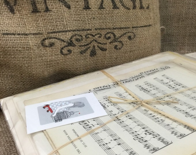 Vintage Music Craft Paper | Antique Music Book Pages | Musical Note Pages | Music Sheets | Decoupage Paper | Origami Papers | Sheet Music