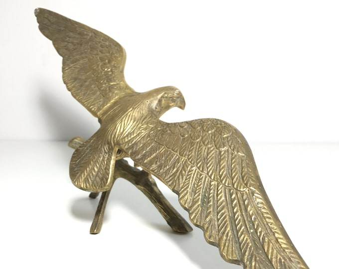 Large Bronze Eagle Object D'Art Bald Eagle Sculpture Bronze Gift For Him Eagle With Open Wings Statue