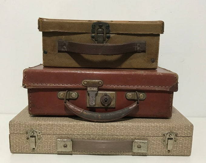 Assorted Vintage Cases Small Cases For Storage, Time Capsules, Jewellery