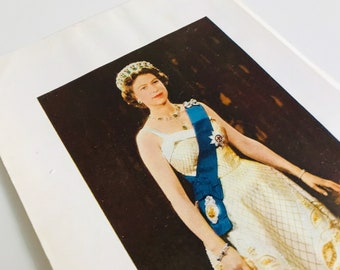 A Young Her Majesty Queen Elizabeth II Colour Portrait Print - Photo by Baron Studio BP00910