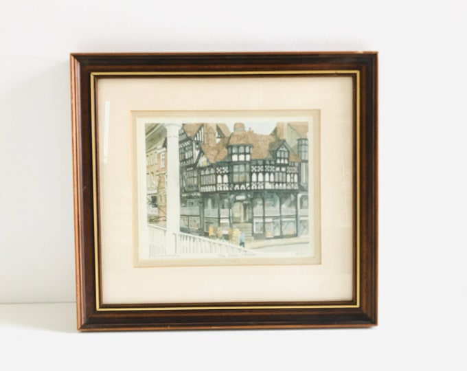 The Rows Cheshire Philip Martin Signed Limited Edition Framed Lithograph Watercolour Print