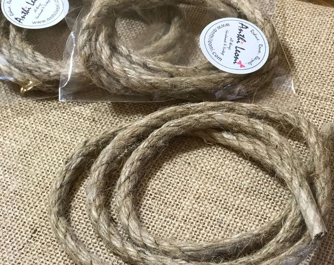 Natural Brown Rustic Rope Twine - 5mm Thick Quality Jute Craft Twine / 1m Rope Gift Pack / Shabby Chic Wedding Twine / Packaging Jute Twine