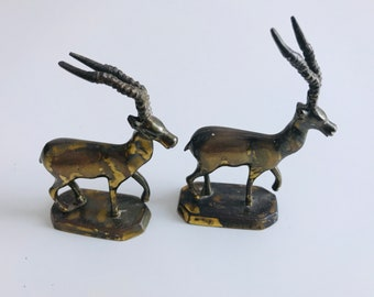 Pair of Small Brass Roe Deers | Brass Ornaments