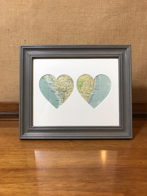 Beste Heart Map Picture Frame Ideen - Benutzerdefinierte ...
