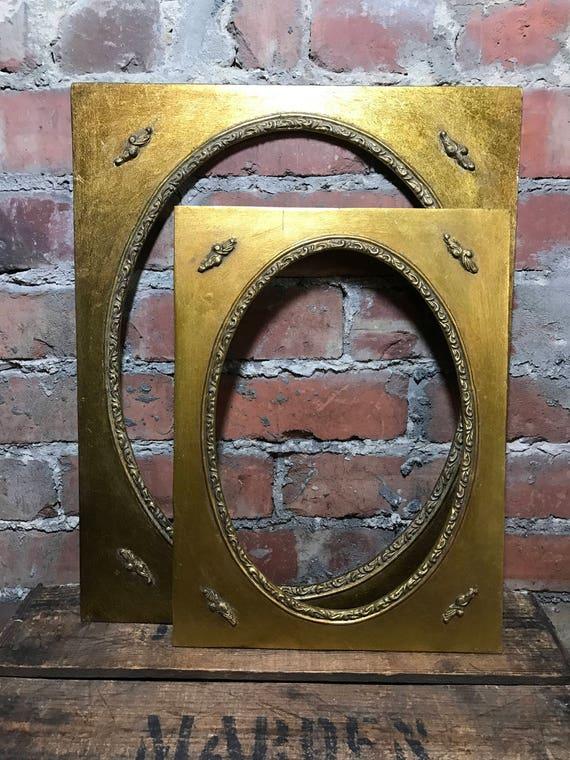 Oval Mount Frame Set | 12 x 16 | 16 x 20 | Gold Frames | Oval Frames ...