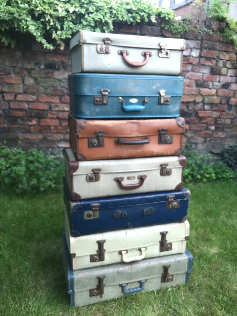 Vintage Suitcases  Vintage Luggage  Vintage Home Decor  image 0