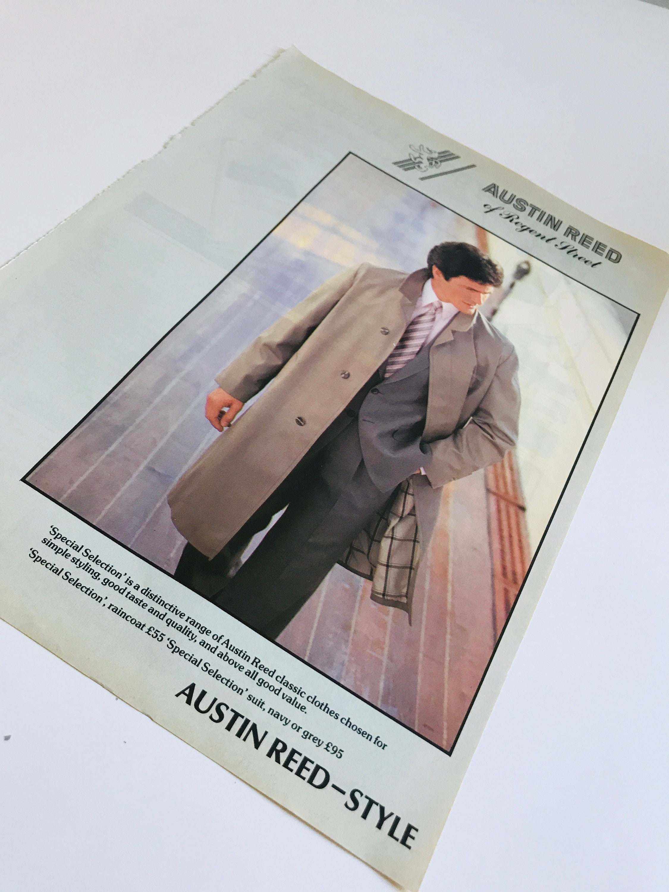 1983 Austin Reed Advertisement From Country Life Magazine 80s Mens Fashion Advert