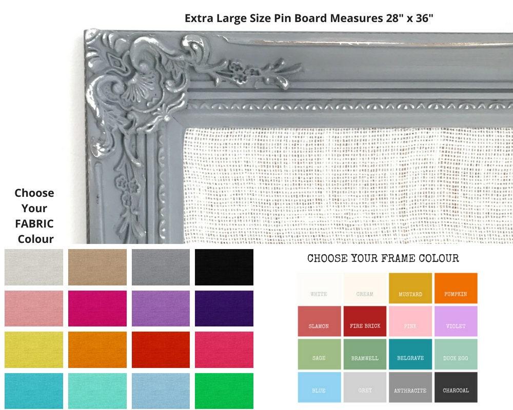 Large Pin Board Framed Hessian Fabric Bulletin Board Ornate Notice ...