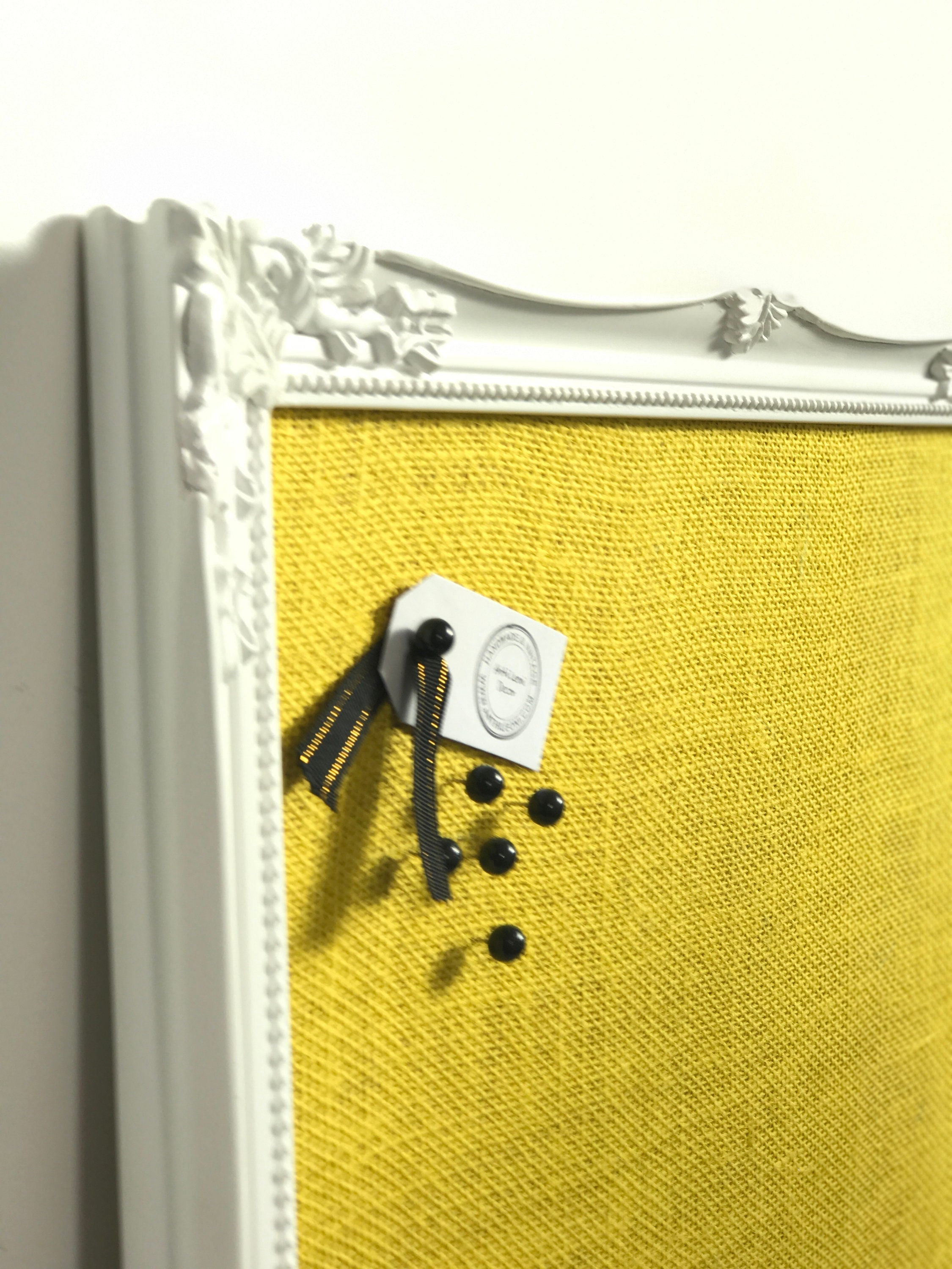 Yellow Burlap Fabric Pin Board For Home Decor Yellow Home
