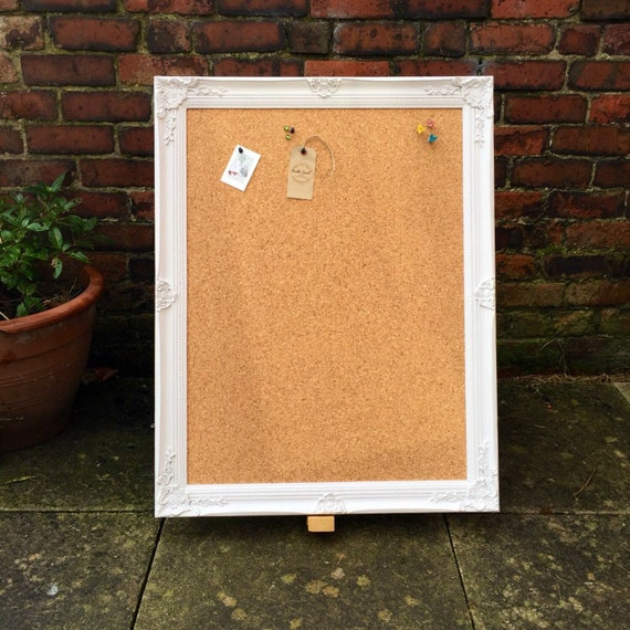 Large Framed Corkboard Extra Large Pin Board Ornate Cork Etsy