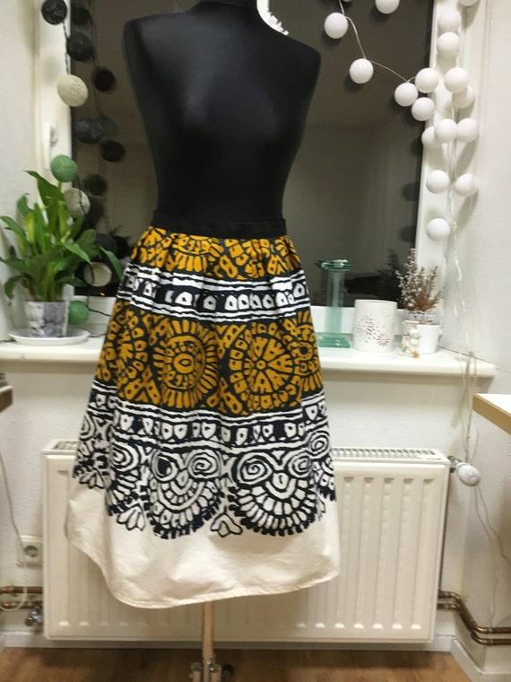skirt skirt ship print Cotton skirt cotton Summer Unique skirt Ready to African OwXqx6P