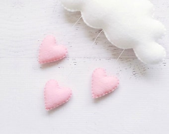 Cloud Baby Mobile - Cloud Theme Decor - Heart Cloud Mobile for Nursery - Cloud Wall Hanging - Mobiles - Nursery Decor - Baby Shower Gift