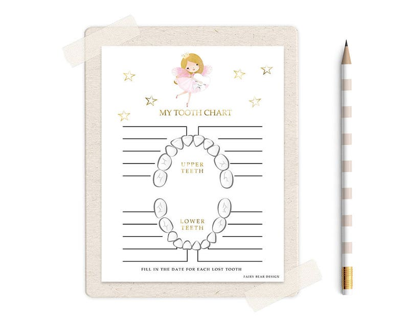 graphic about Baby Tooth Chart Printable named Fairy Lady Shed Enamel Chart - Misplaced Enamel Chart - Printable Teeth Chart  Teeth Fairy Presents - Kid Enamel - Teeth Information - Teeth - Boy or girl Reward