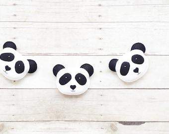 Panda Nursey - Felt Garland - Nursery Decor - Gender Neutral - Kids Room Decor - Photo Props - Banner Bunting - Gifts for Kids