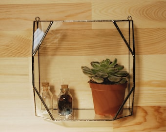Hanging Glass Terrarium / Geometric Glass Terarrium / Handmade Glass Terrarium / Accessory Box / Jewelry Box / Stained Glass Box / Organiser
