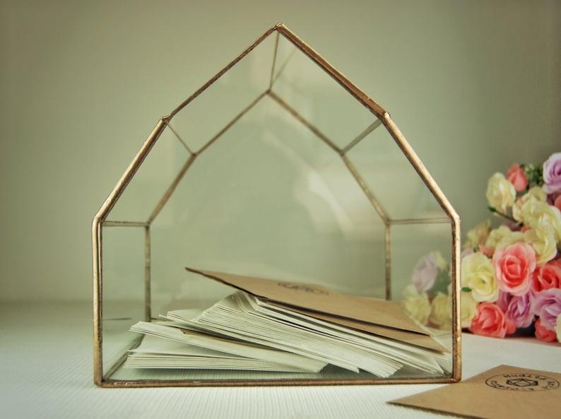 Customized Wedding Card Box Geometric Glass Box Wedding Card Etsy
