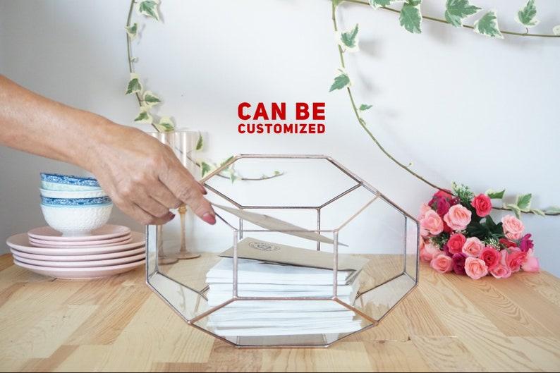 Large Geometric Glass Box Customized Wedding Card Box Etsy