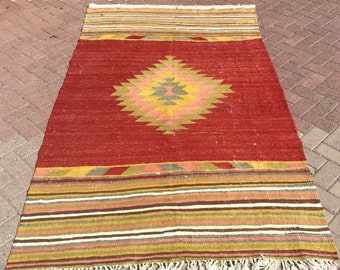 Vintage Rugs Kilim Rugs Area Rugs Collectible Items By Pocovintage