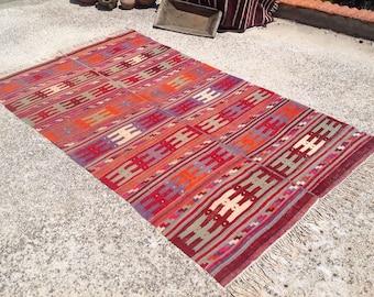 """Area rug, Kilim rug, 104"""" x 61"""", Vintage Turkish kilim rug, area rug, kelim rug, floor rug, vintage rug, bohemian rug, rug, kilim rug,512"""