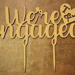 We're Engaged, Engagement Party, Initials, Custom, Personalised Cake Topper, Engagement Anniversary, Engagement Cake Topper