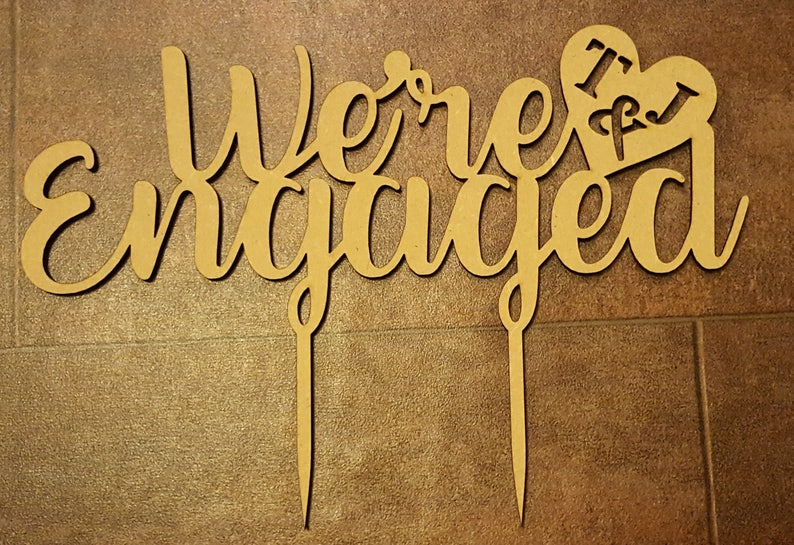 We're Engaged Engagement Party Initials Custom image 0