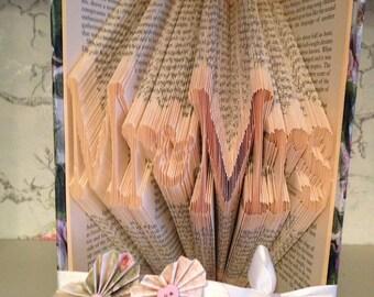 Folded Book Art 'Mr & Mrs'