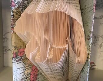 Folded Book Art Bear