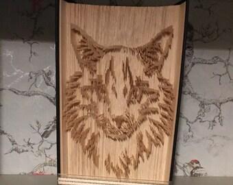 Folded book art cat